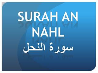 Teks Bacaan Surat An Nahl Arab Latin dan Terjemahannya