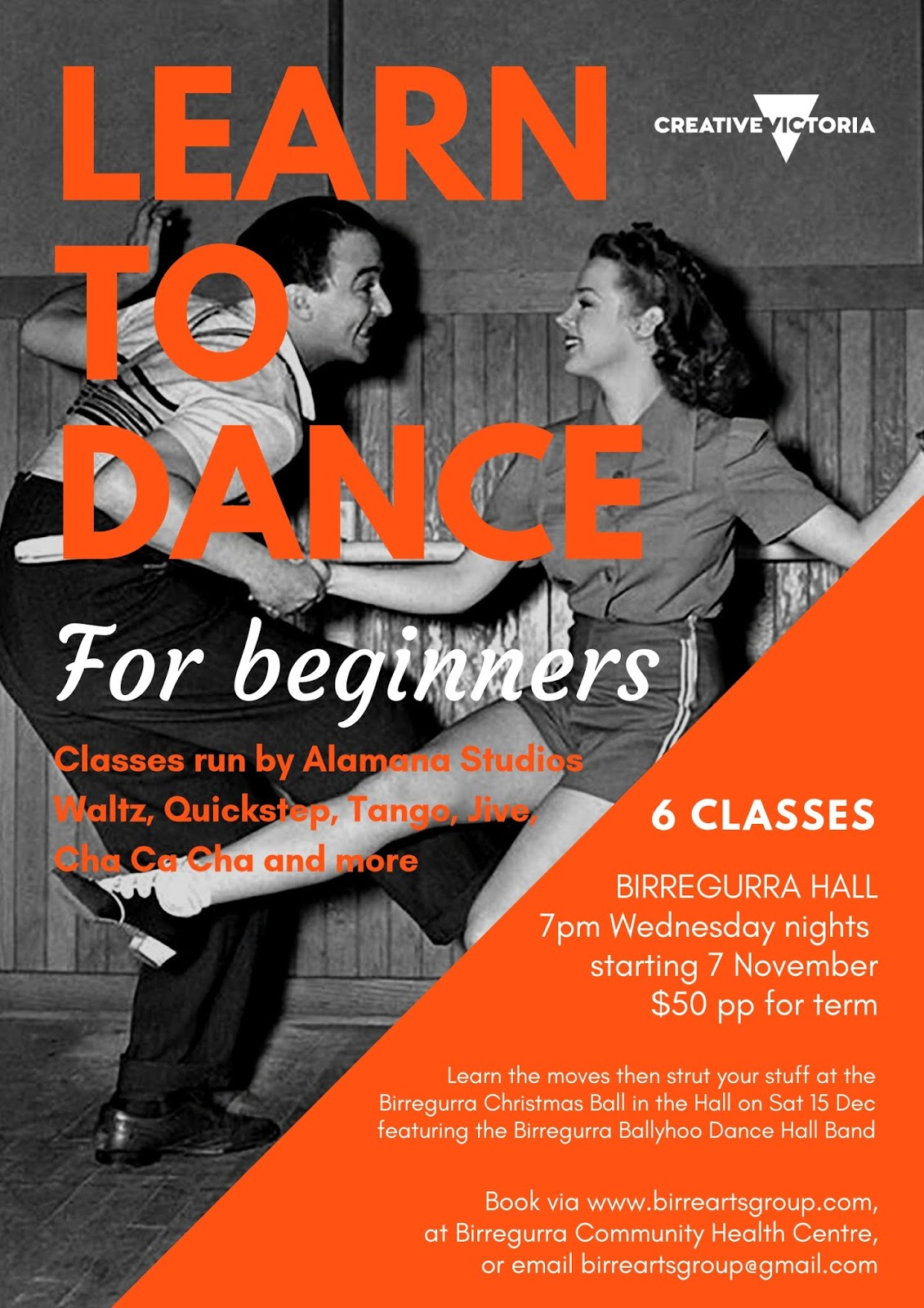 dance classes are coming to birregurra in november