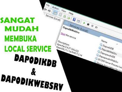 local service dapodikdb dan dapodikwebsrv