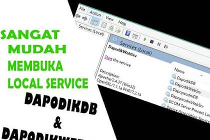 Langkah Paling mudah Membuka local service DapodikDB dan DapodikWebSrv