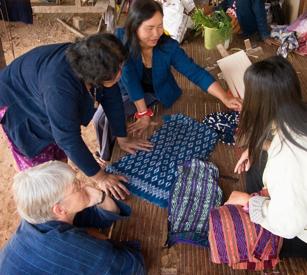 Indigo dyers and weavers in Northeast Thailand