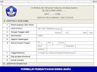 Formulir Pendaftaran Peserta Didik Baru untuk SD SMP SMA