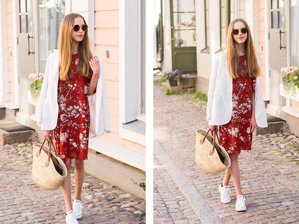 floral-dress-linen-blazer-fashion-blogger-outfit