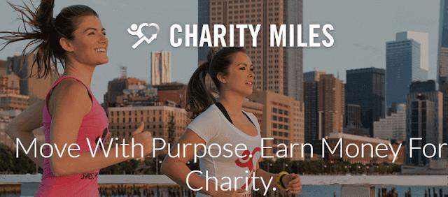 تطبيق Charity Miles للربح من الانترنت