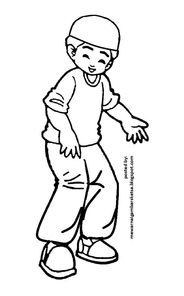 Gambar Kartun Anak Muslim Untuk Diwarnai Classy World