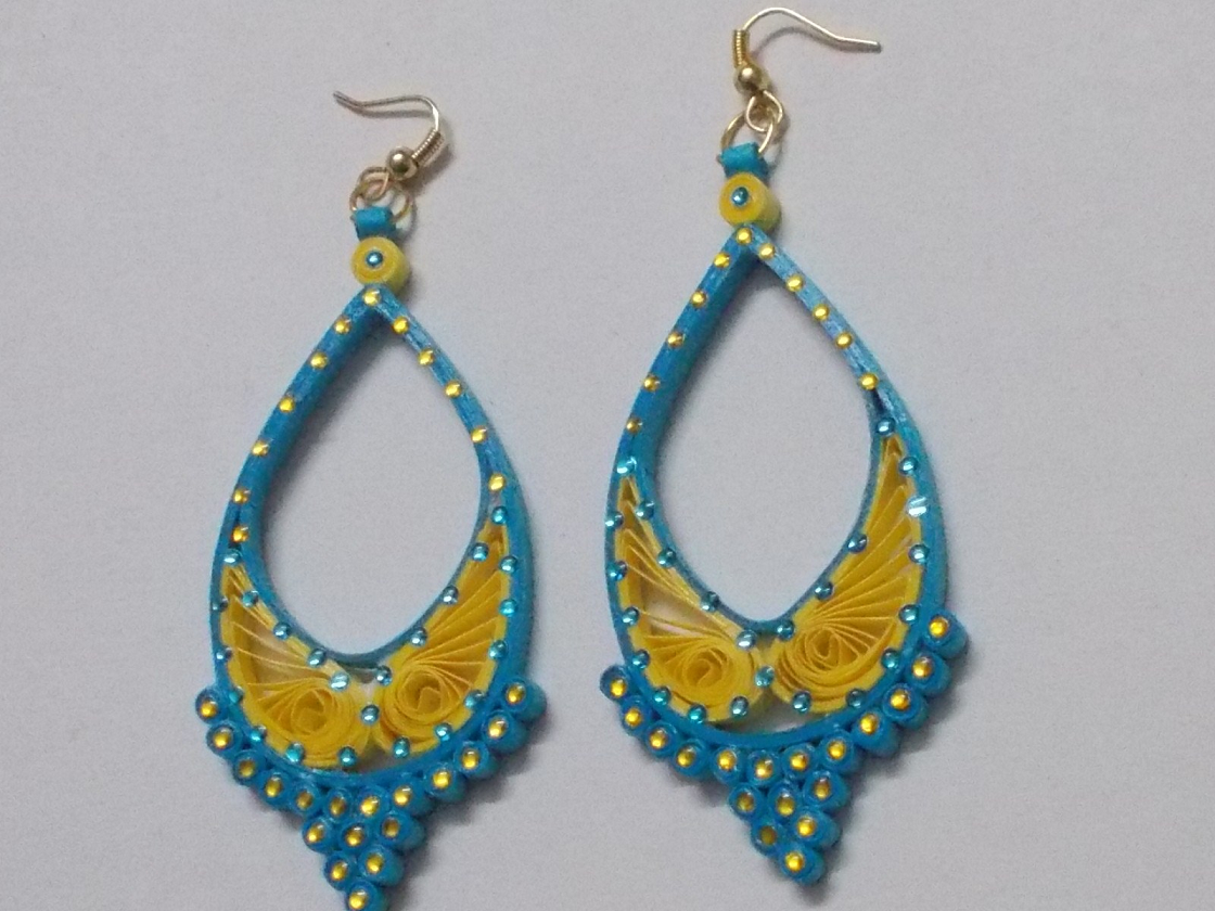 Quilling Earrings Designs Images : Fancy Quilling Paper Earring Designs 2015 - Quilling designs
