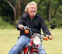 Entrepreneur Richard Bronson On Motorcycle
