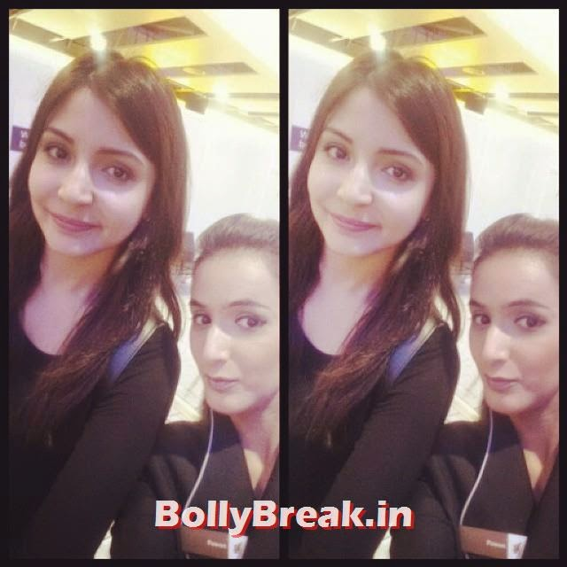 selfie with anushka sharma😉😉