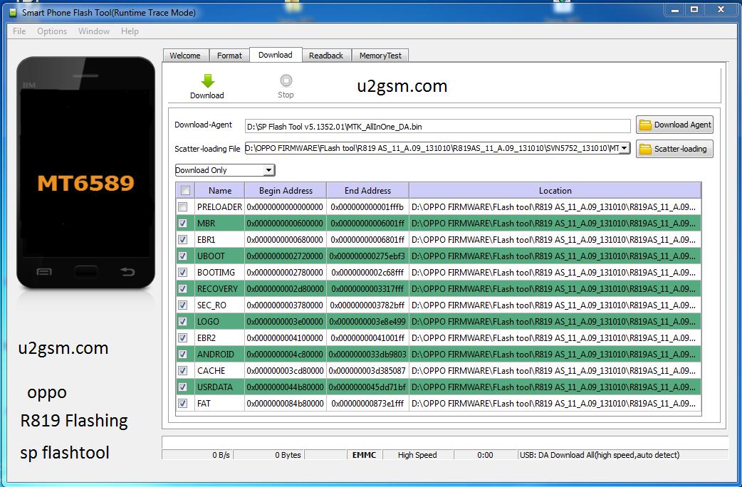 Cara Flashing Oppo R819 / Find Mirror R819 menggunakan Sp ...