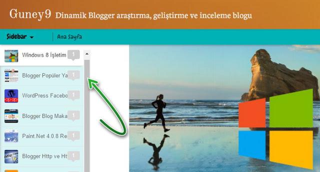 """Blogger, Dinamik görünümünde Sidebar'a Dikey kaydırma çubuğu """"Scrollbar""""eklentisi nasıl düzenlenir?"""