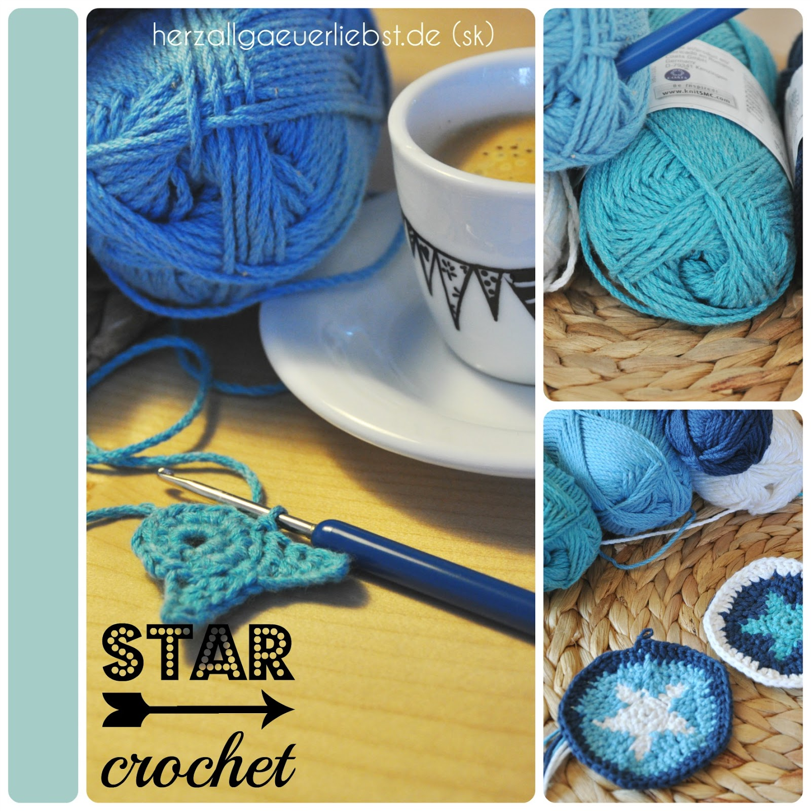 Herzallgäuerliebst Star Crochet Sterne Häkeln Creadienstag