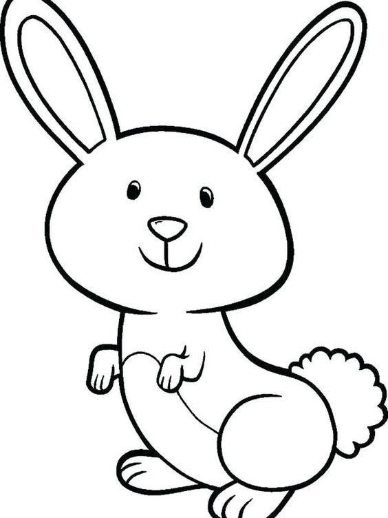 Tranh tô màu con thỏ đơn giản