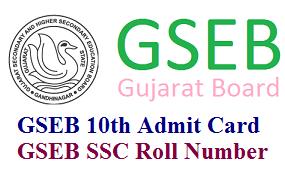 Gujarat (GSEB) 10th Admit Card 2017 Download at gseb.org