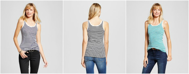 Merona Striped Favorite Tank $6 (reg $9)