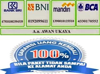 """Rek. Bank De Nature Indonesia - Hanya Atas Nama """"Awan Ukaya"""""""