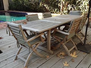 Heygreenie Teak Wood Expandable Rectangular Table Patio