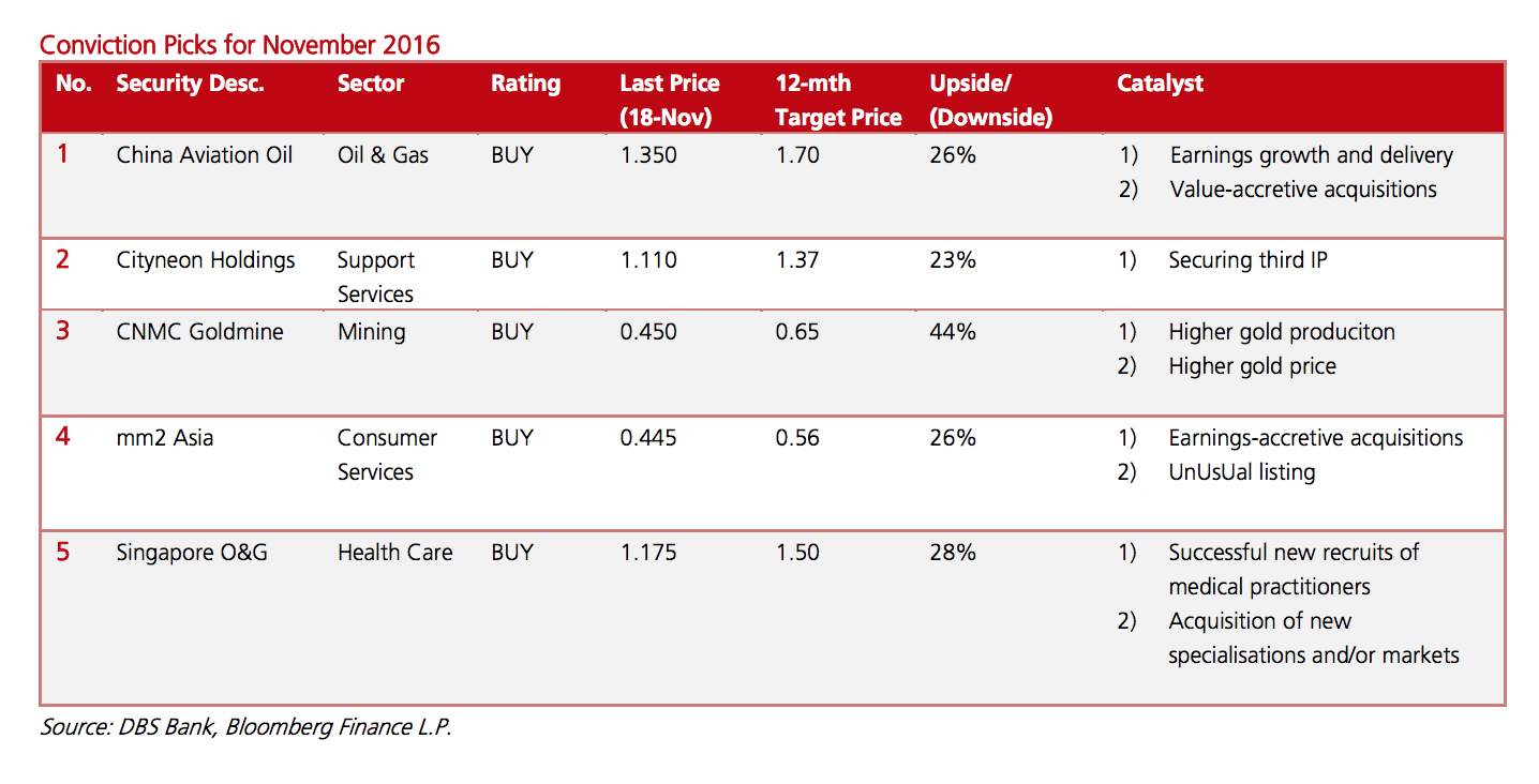 DBS Group Research Small Mid Cap Conviction Picks 2016-11-21