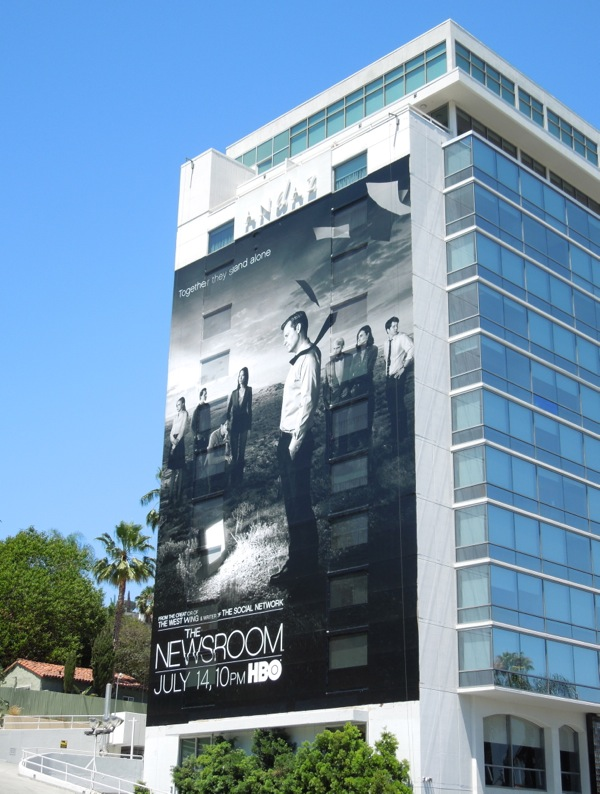 Newsroom season 2 HBO billboard