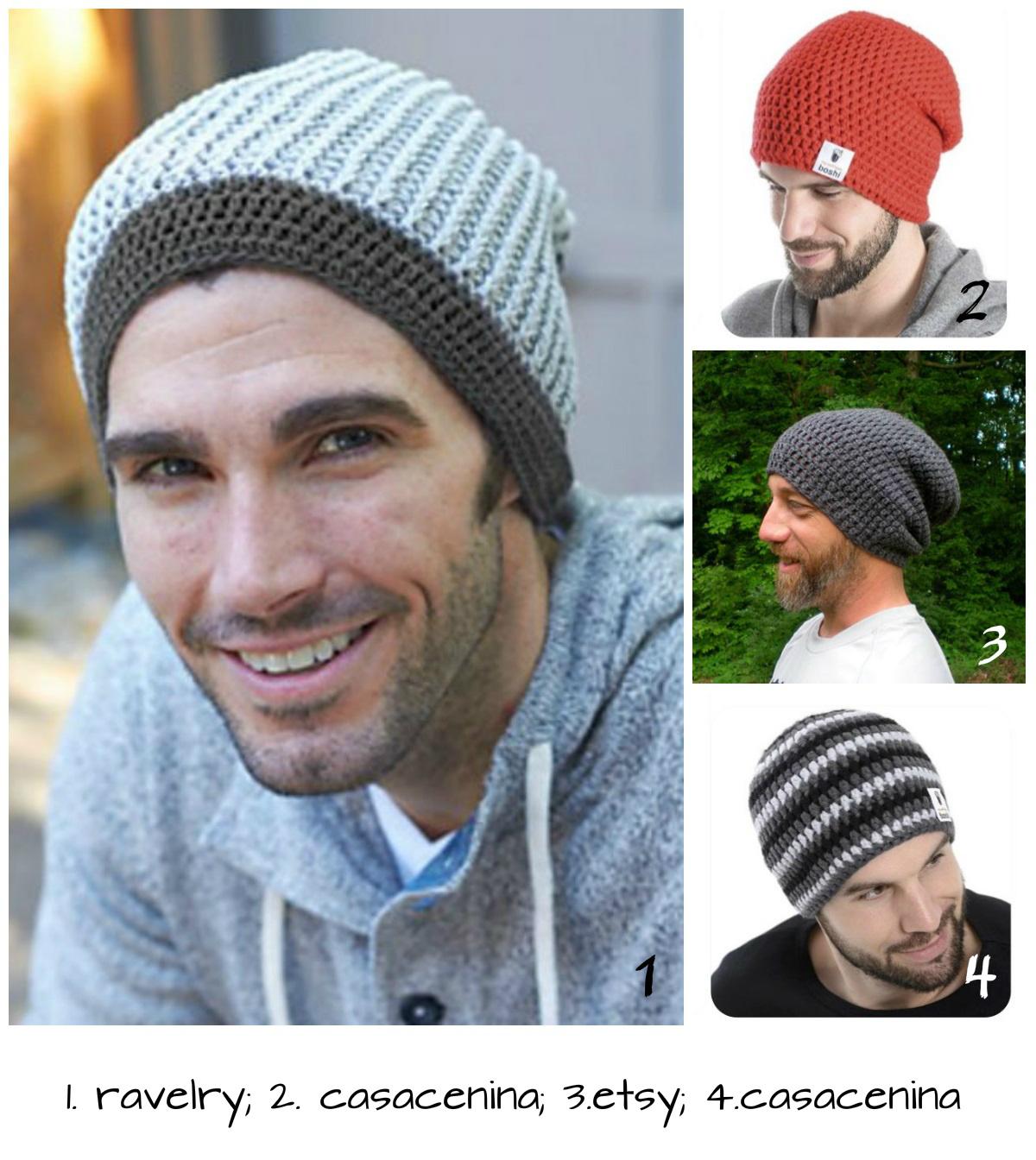 65512925d2282 Aprendiz de Crocheteiras  Touca de Crochê Masculina – Fácil e ...