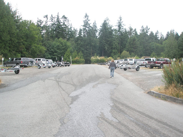 Washington Park parking lot in Anacortes, WA