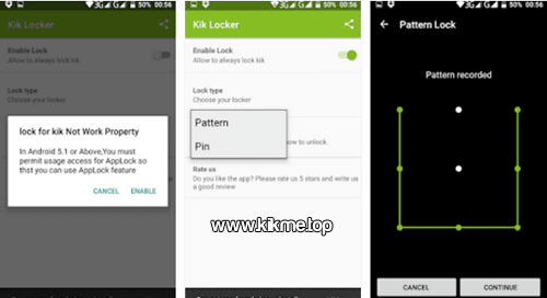 Cuida tu privacidad con Locker for Kik