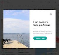Fra Airbnb nettside for Oslo