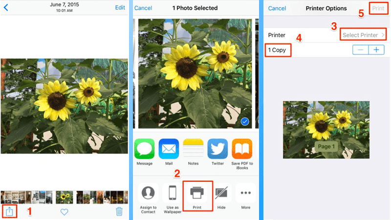 print photos from iphone to printer