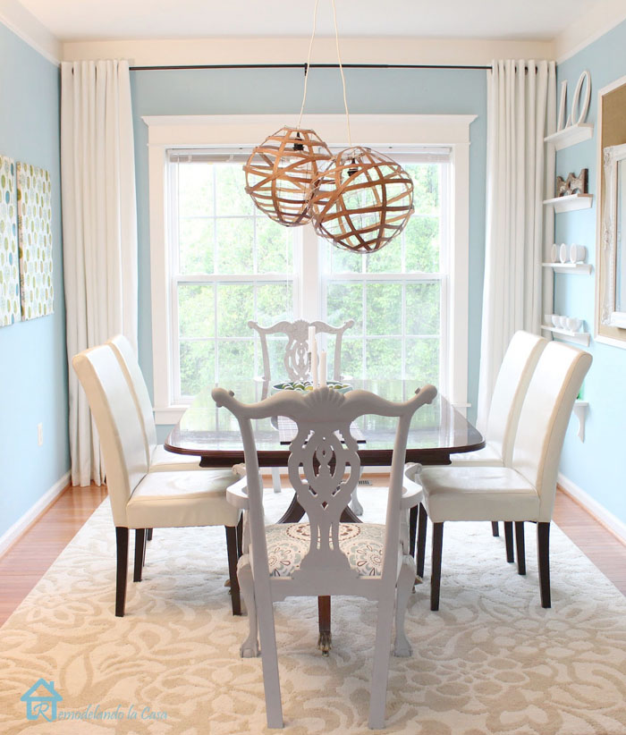 dining room with a transitional character
