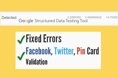How to Fix Structured Data/ Schema Markup Errors in Blogger