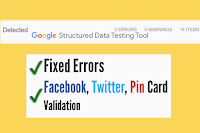 How to Fix Structured Data Errors in Blogger