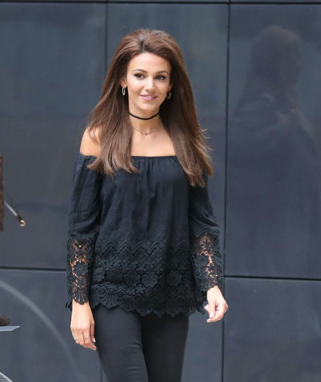 Michelle Keegan Long hair Stills In Black Dress