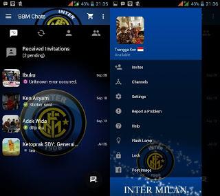 BBM MOD Tema Intermilan v3.0.0.18 MOD Apk Terbaru