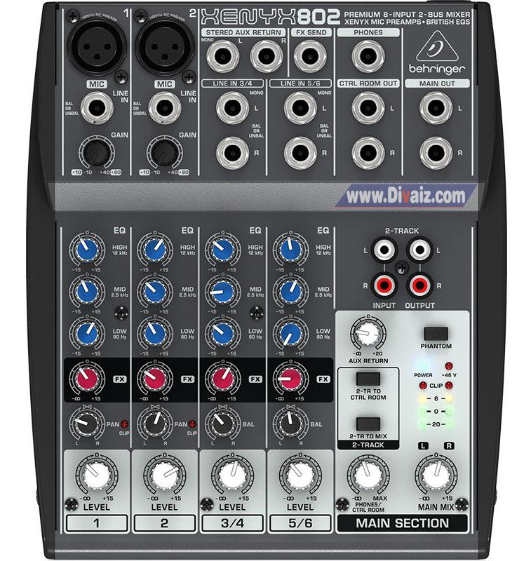 Mixer_Behringer_XENYX 802 - www.divaizz.com