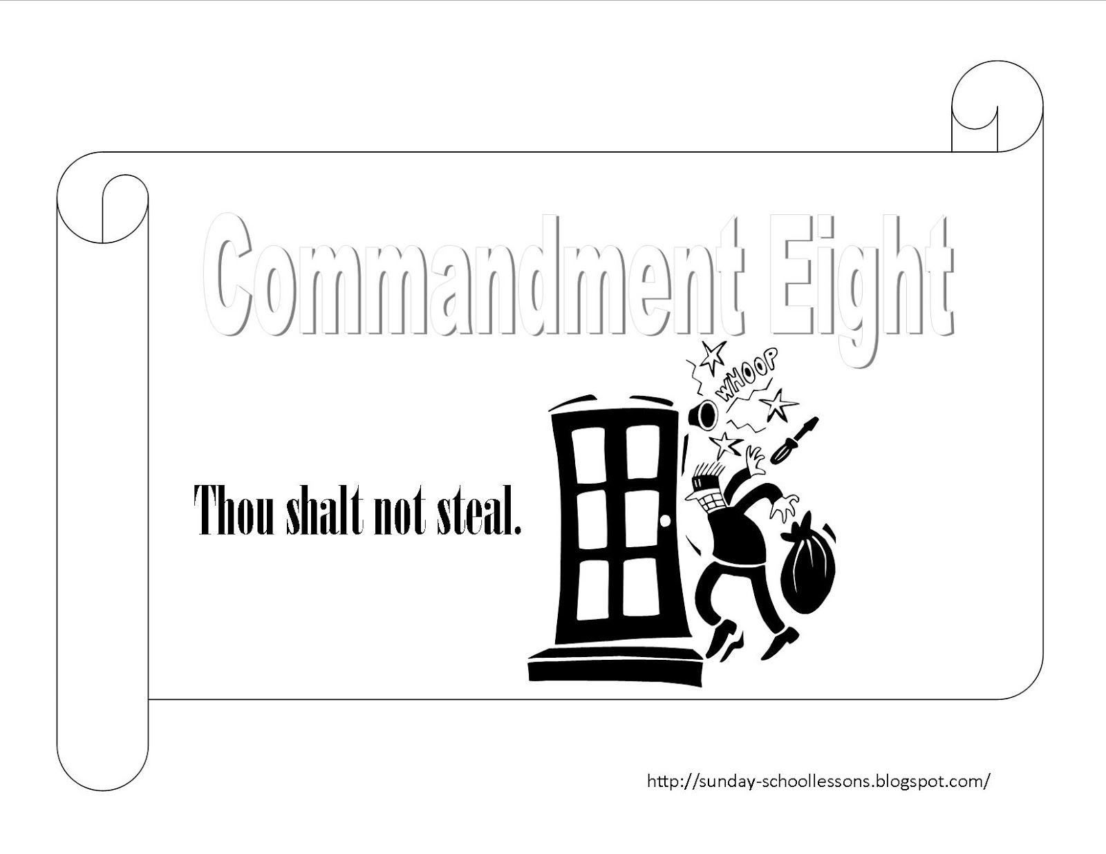 Sunday School Lessons Of Plenty 10 Commandments