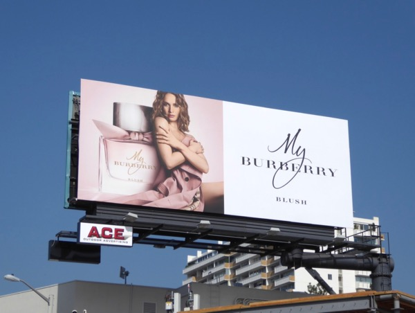 My Burberry Blush fragrance billboard