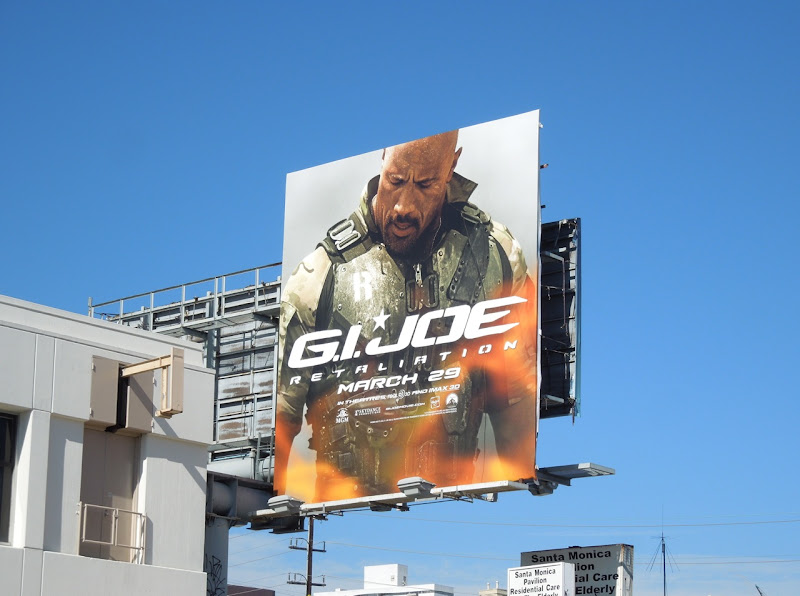 GI Joe Retaliation dwayne johnson billboard
