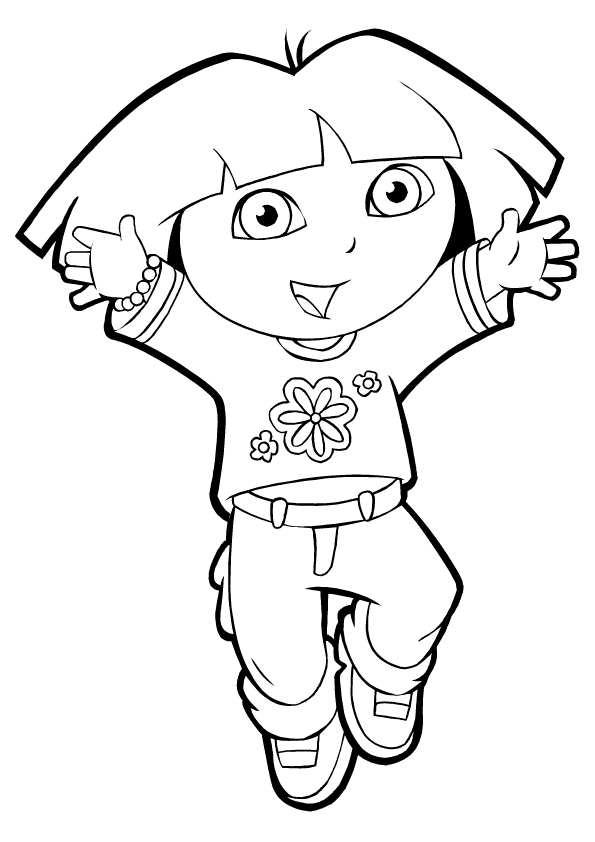 dor coloring pages | Dora Coloring Pages CuteColoring.com