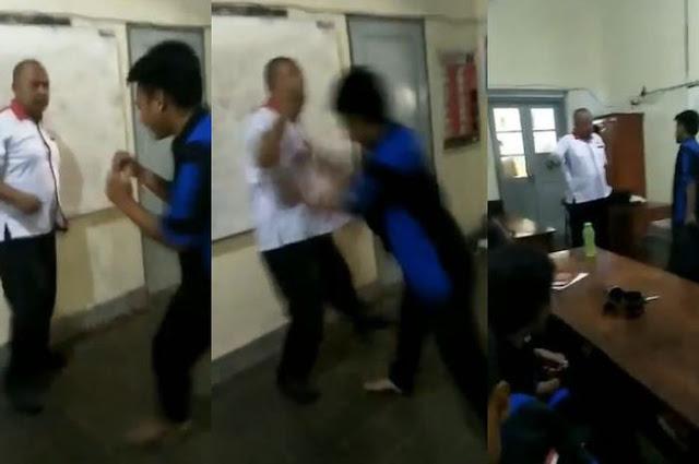 [Video] Miris, Siswa SMK Ajak Adu Fisik Gurunya, Siswa Lainnya Malah Menyoraki