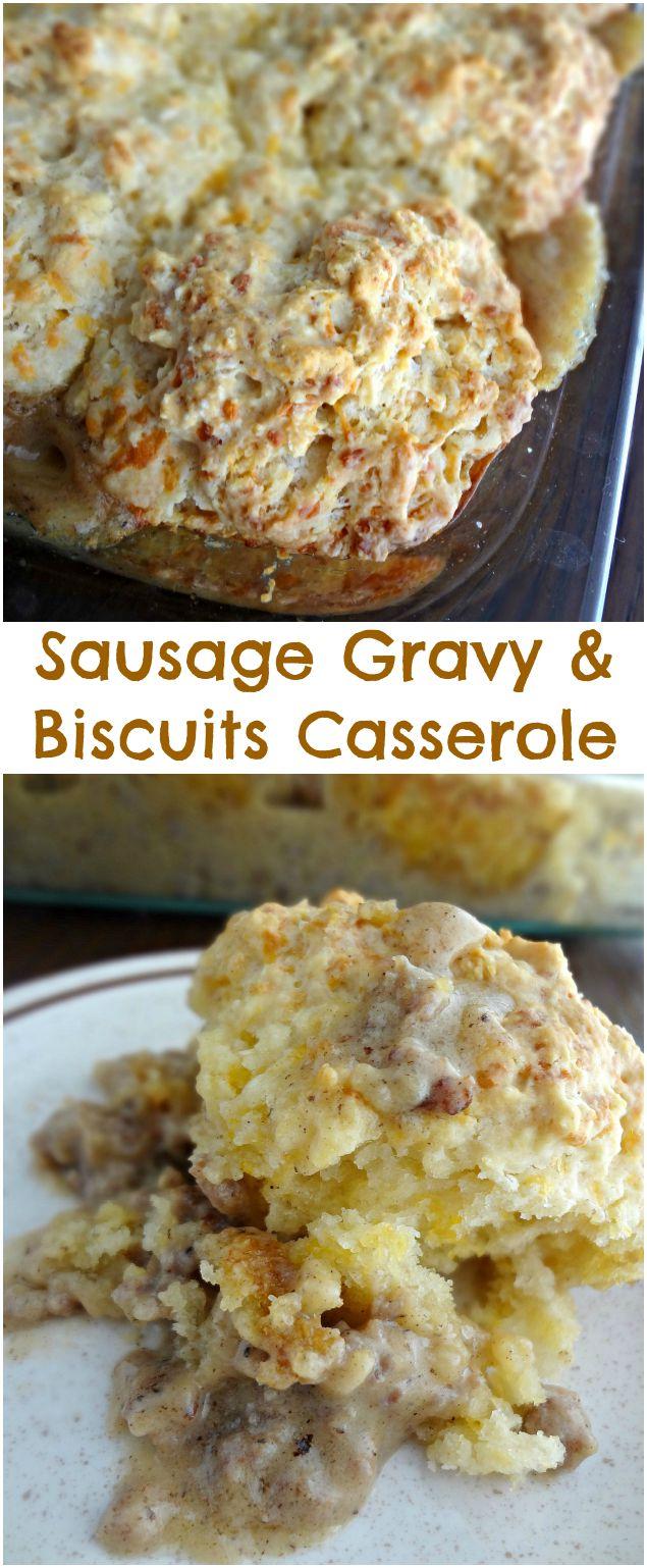 Sausage Gravy & Biscuits Casserole
