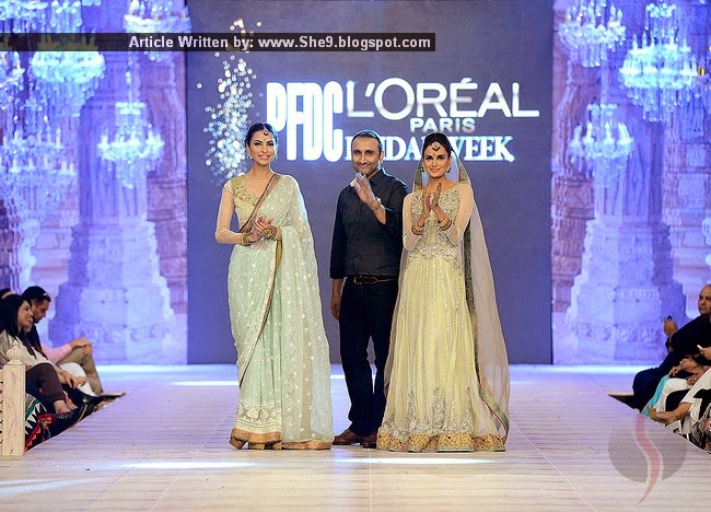 0e6b312021 Asifa Nabeel Bridal Suits at PFDC L`Oreal Paris Bridal Week 2014 ...