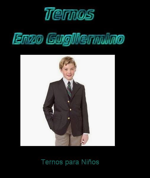 TERNOS ENZO GUGLIERMINO  TERNOS PARA NIÑOS-EN MAGDALENA DEL MAR a7c0798a209d