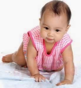 gambar bayi perempuan belajar merangkak