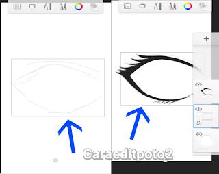 Cara membuat mata anime di android