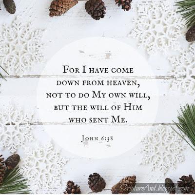 Why Was Jesus Born? John 6:38 To do God's will   scriptureand.blogspot.com