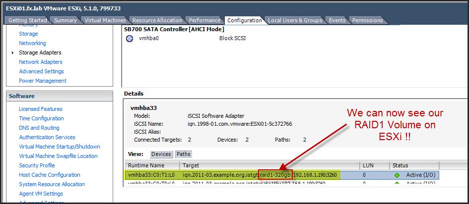 FreeNas 8 3 - Creating a RAID volume and Configure iSCSI