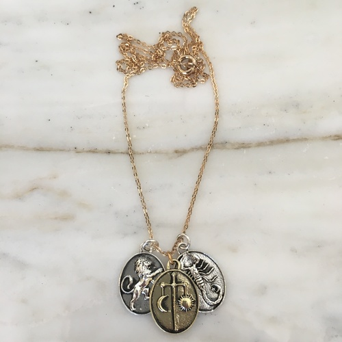 Talon Zodiac Pendant Necklace