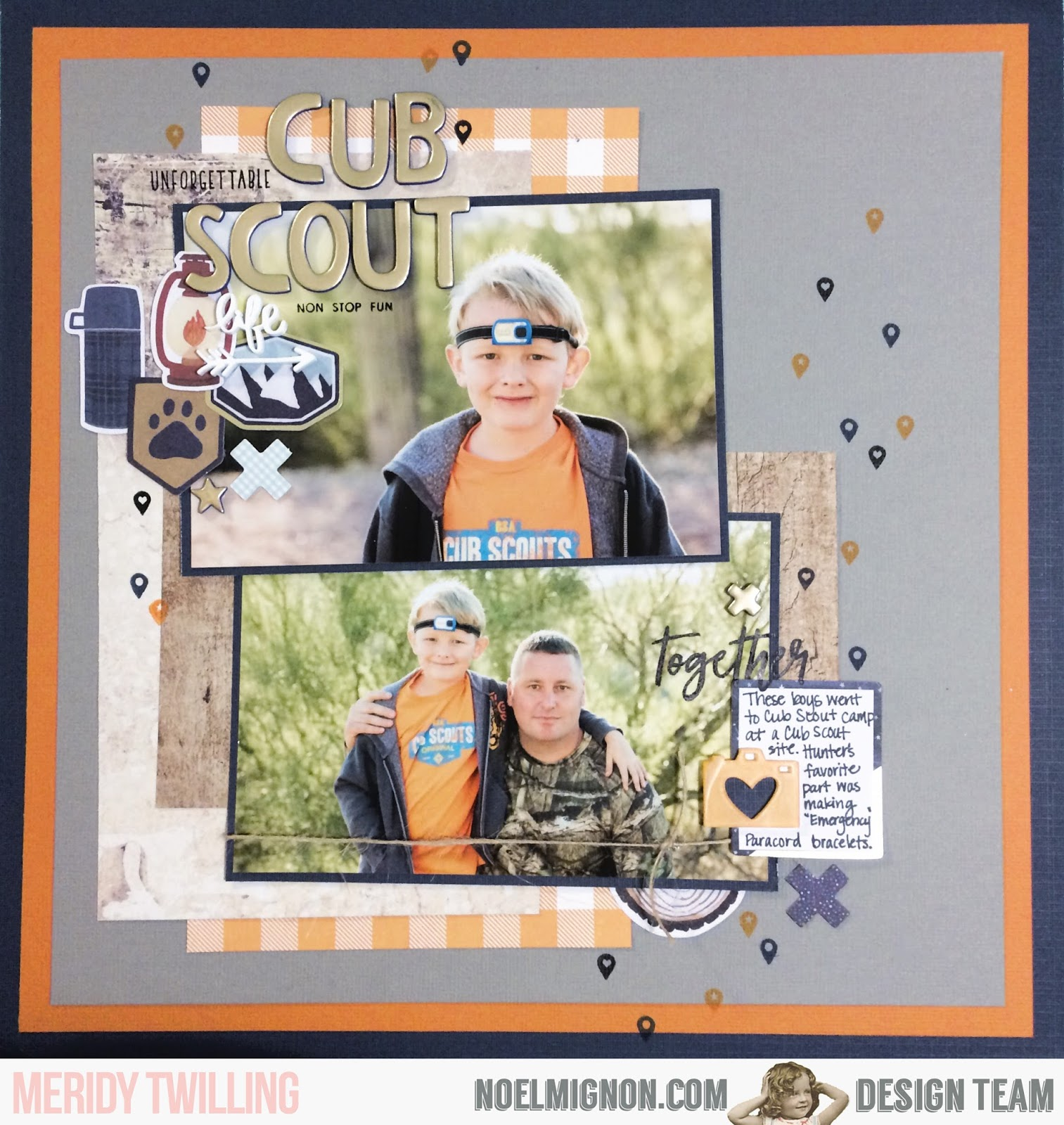 NoelMignon.com Layouts and Projects: {Cub Scout Life} Layout with ...