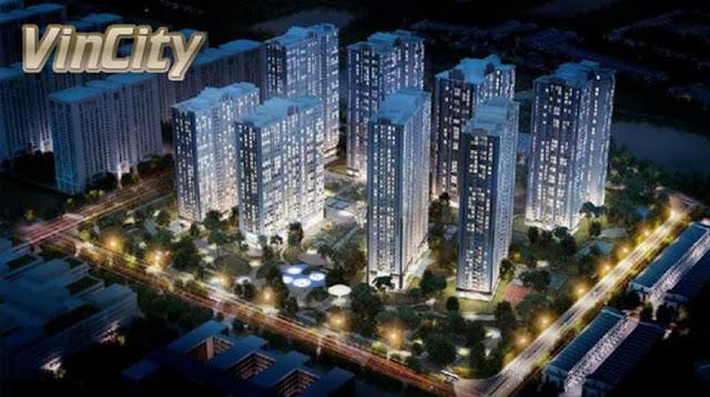 mô phỏng dự án căn hộ chung cư VinCity
