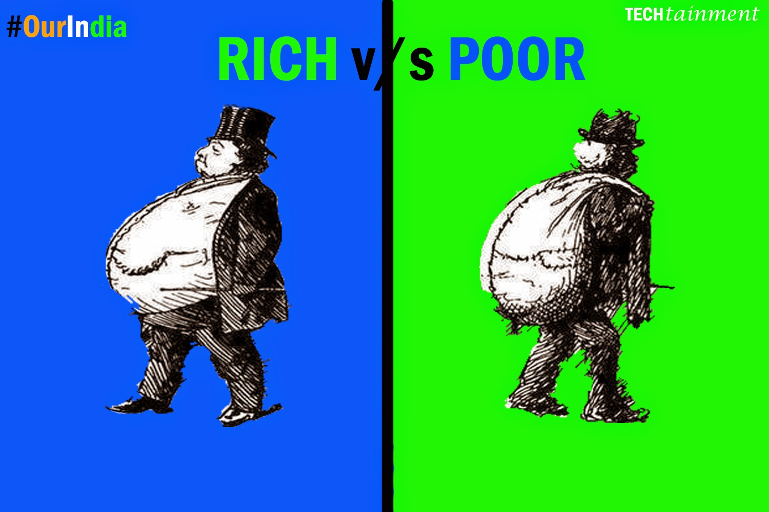 4 pictures to compare rich and poor in india techtainment