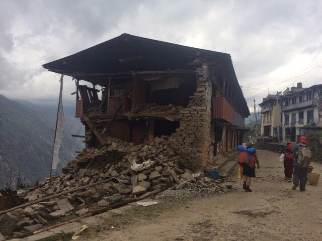 House destroyed by the earthquake in Nepal
